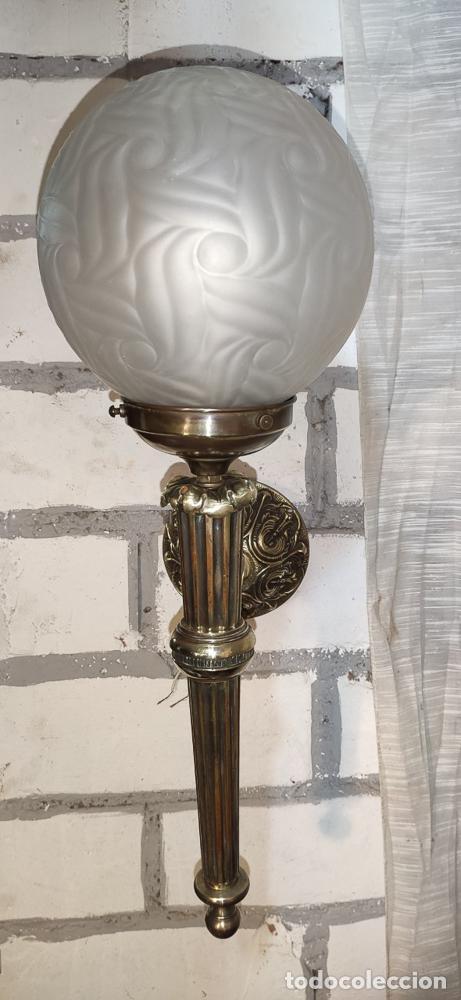 Antigüedades: EXCELENTE APLIQUE ESTILO IMPERIO, LUZ, ,LAMPARA, DE BRONCE - Foto 5 - 263234125