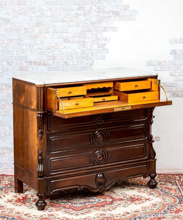 Antigüedades: Cómoda Bureau Antigua - Foto 3 - 263253140