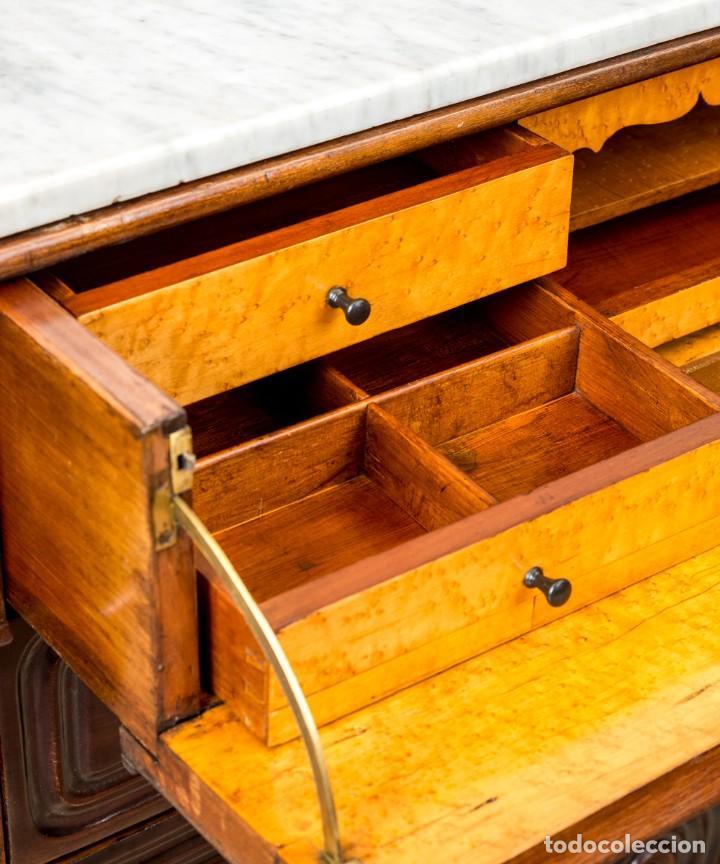 Antigüedades: Cómoda Bureau Antigua - Foto 10 - 263253140