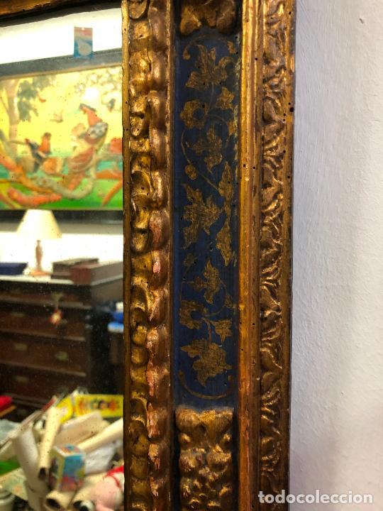 Antigüedades: ANTIGUO ESPEJO DE MADERA Y DORADO ESTILO FRANCES CON MEDIDAS 72,5X58,5 CM - Foto 3 - 263264160