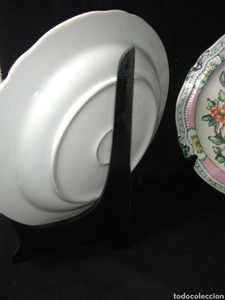 Antigüedades: Precioso platos principios de siglo XX ,ceramica pintado a mano ,esmaltes de colores - Foto 11 - 263265270