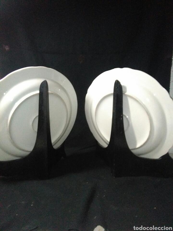 Antigüedades: Precioso platos principios de siglo XX ,ceramica pintado a mano ,esmaltes de colores - Foto 12 - 263265270