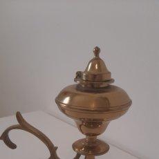 Antigüedades: LAMPARA DE ACEITE ANTIGUA. Lote 263265620