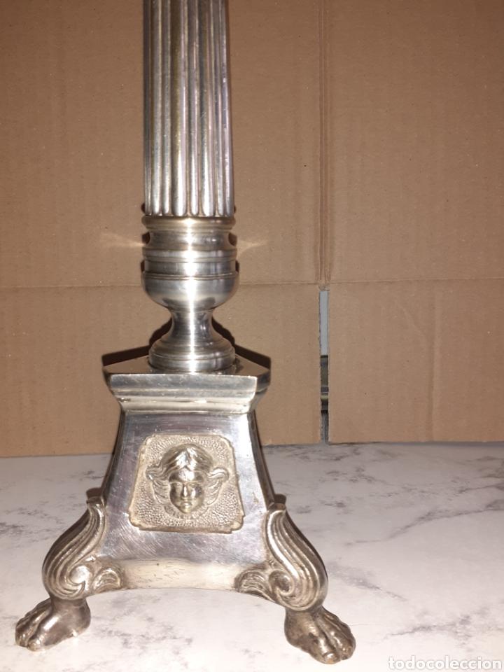 CADELABRO 34 CM DE ALTO. (Antigüedades - Iluminación - Candelabros Antiguos)