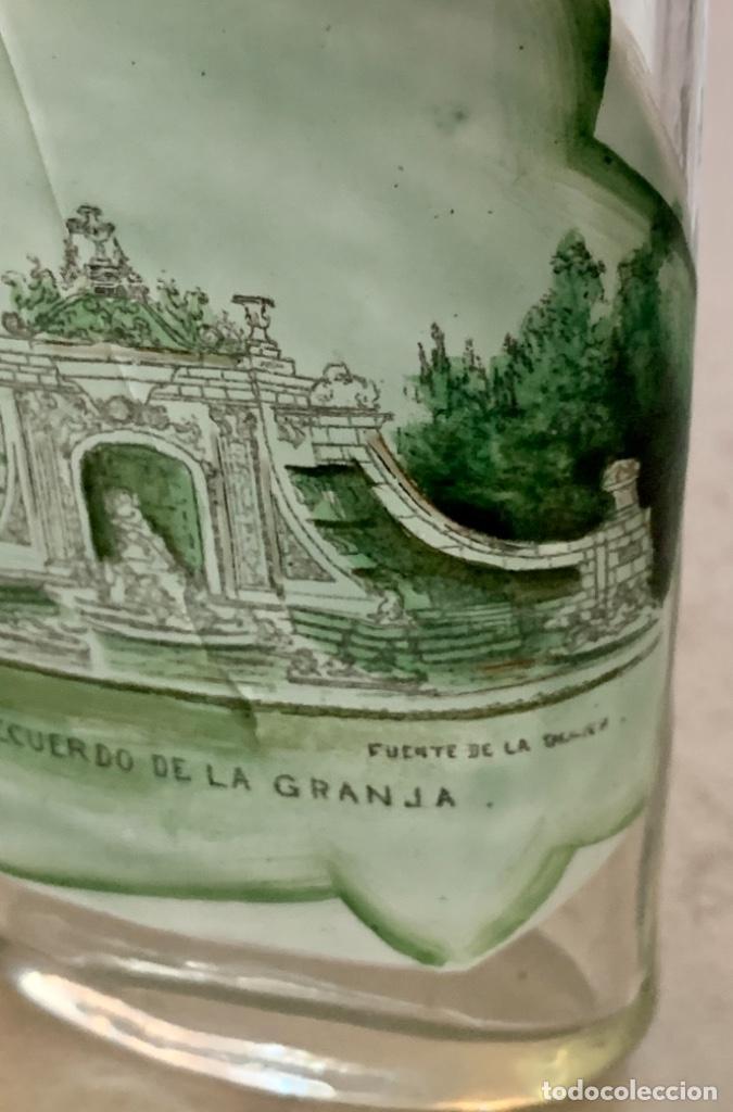 Antigüedades: VASO DE FALTRIQUERA - PETACA EN CRISTAL DE LA GRANJA - FUENTE DE LOS BAÑOS DE DIANA - SIGLO XIX - Foto 2 - 263547010