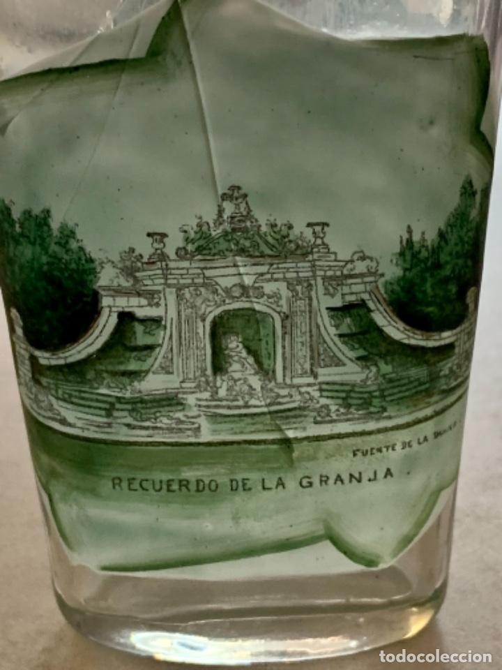 Antigüedades: VASO DE FALTRIQUERA - PETACA EN CRISTAL DE LA GRANJA - FUENTE DE LOS BAÑOS DE DIANA - SIGLO XIX - Foto 3 - 263547010