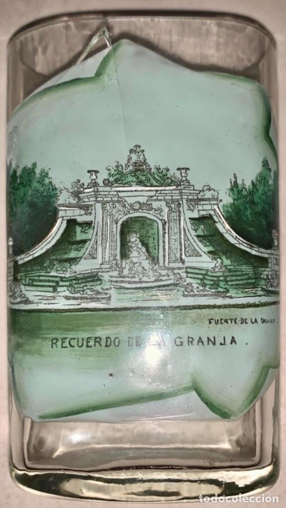 Antigüedades: VASO DE FALTRIQUERA - PETACA EN CRISTAL DE LA GRANJA - FUENTE DE LOS BAÑOS DE DIANA - SIGLO XIX - Foto 7 - 263547010