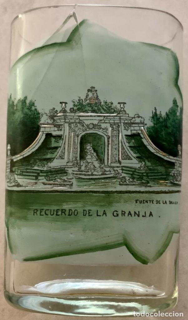 Antigüedades: VASO DE FALTRIQUERA - PETACA EN CRISTAL DE LA GRANJA - FUENTE DE LOS BAÑOS DE DIANA - SIGLO XIX - Foto 8 - 263547010
