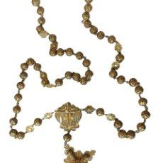 Antigüedades: ROSARIO EN FILIGRANA PLATA VERMEIL. CA 1900. VERMEIL SILVER FILIGREE ROSARY BEADS.. Lote 263549420