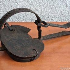 Antigüedades: CEPO TRAMPA DE HIERRO - FORJA - CAZA - DECORACIÓN RÚSTICA. Lote 263575635