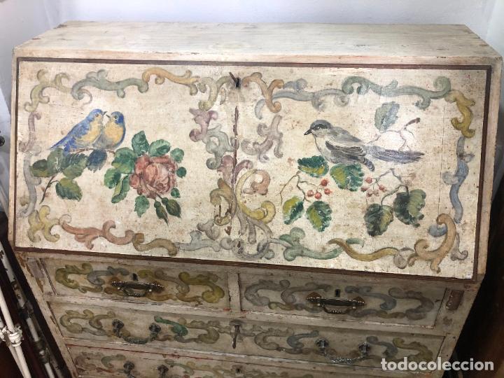Antigüedades: ANTIGUO MUEBLE SINFONIER BURO FRANCES PINTADO A MANO - MEDIDA 113X85X40 CM - Foto 2 - 276547628
