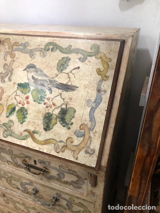Antigüedades: ANTIGUO MUEBLE SINFONIER BURO FRANCES PINTADO A MANO - MEDIDA 113X85X40 CM - Foto 4 - 276547628