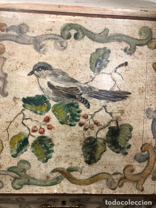 Antigüedades: ANTIGUO MUEBLE SINFONIER BURO FRANCES PINTADO A MANO - MEDIDA 113X85X40 CM - Foto 5 - 276547628