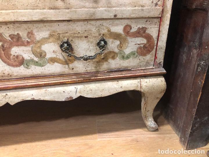 Antigüedades: ANTIGUO MUEBLE SINFONIER BURO FRANCES PINTADO A MANO - MEDIDA 113X85X40 CM - Foto 11 - 276547628