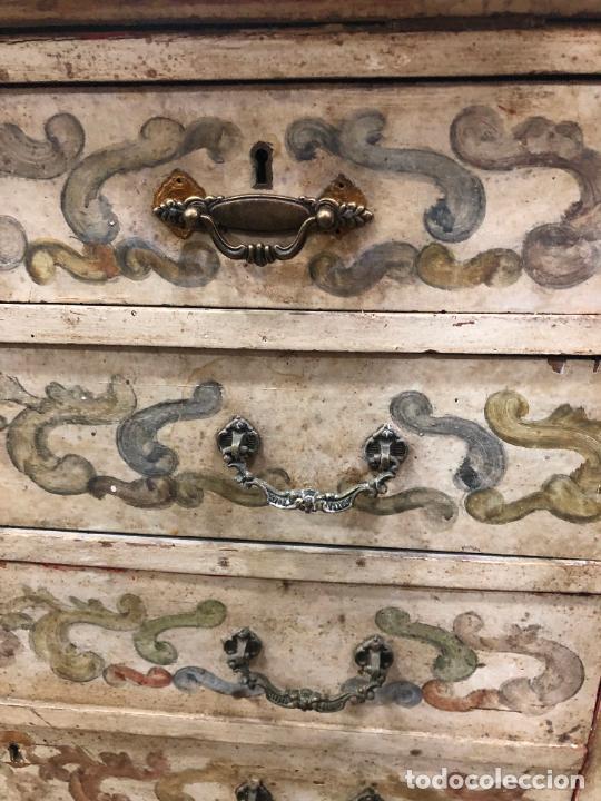 Antigüedades: ANTIGUO MUEBLE SINFONIER BURO FRANCES PINTADO A MANO - MEDIDA 113X85X40 CM - Foto 12 - 276547628