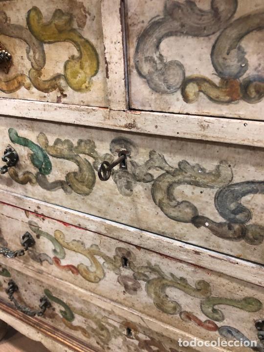 Antigüedades: ANTIGUO MUEBLE SINFONIER BURO FRANCES PINTADO A MANO - MEDIDA 113X85X40 CM - Foto 14 - 276547628