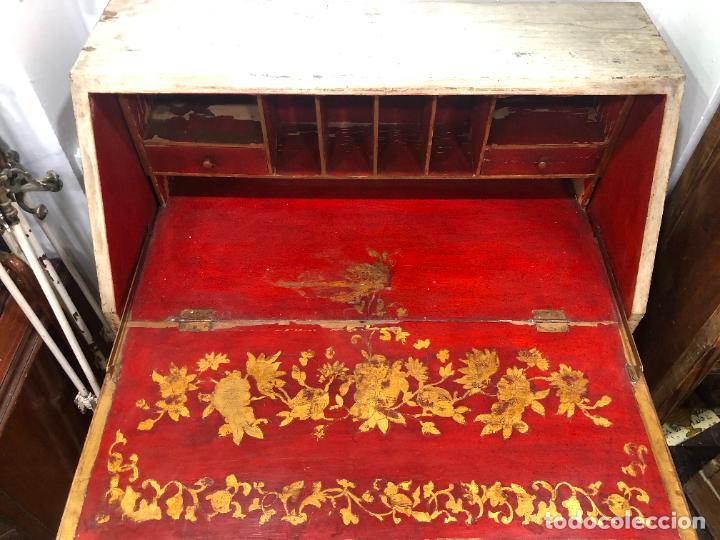 Antigüedades: ANTIGUO MUEBLE SINFONIER BURO FRANCES PINTADO A MANO - MEDIDA 113X85X40 CM - Foto 17 - 276547628