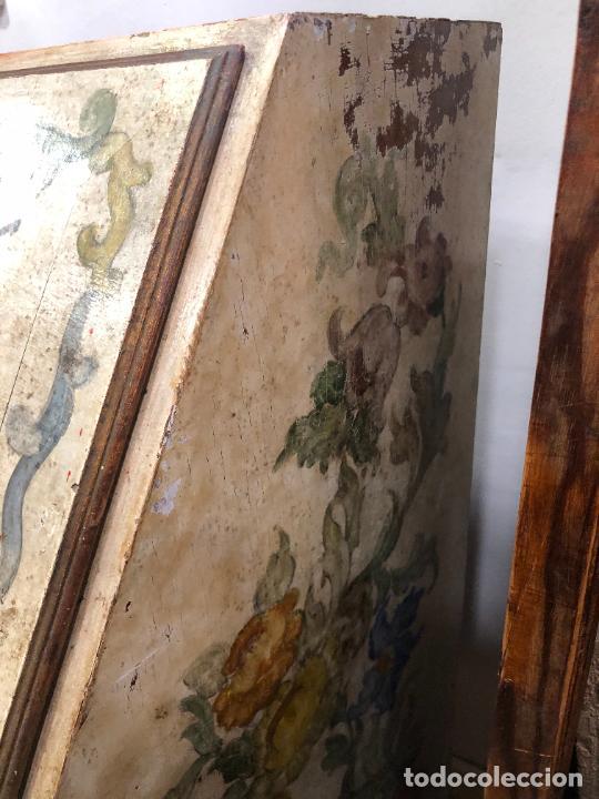 Antigüedades: ANTIGUO MUEBLE SINFONIER BURO FRANCES PINTADO A MANO - MEDIDA 113X85X40 CM - Foto 22 - 276547628