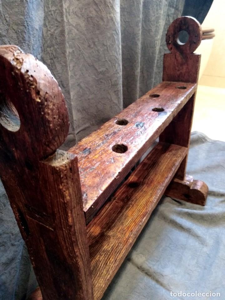 Antigüedades: Hachero o portavelas rústico - Foto 4 - 263578515