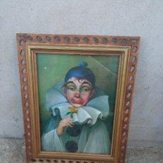 Antigüedades: MARCO ANTIGUO CON ARLEQUÍN.. Lote 263597075