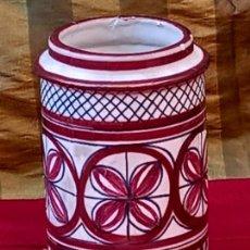 Antigüedades: ALBARELO O TARRO DE FARMACIA EN CERAMICA DE REFLEJOS. MANISES ( VALENCIA ). Lote 263633995