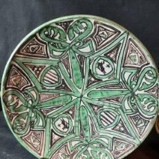 Antiguidades: ANTIGUO PLATO DE CERAMICA PUNTER PINTADO HA MANO DE 26 CM. Lote 263640995