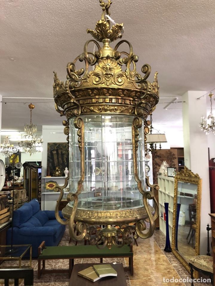 LAMPARA TECHO FAROL (Antigüedades - Iluminación - Faroles Antiguos)