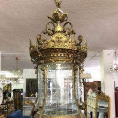 Antiguidades: LAMPARA TECHO FAROL. Lote 263682610