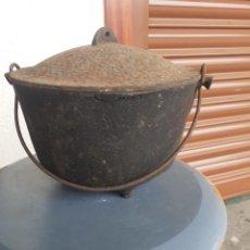 Antigüedades: CAZUELA EN HIERRO COLADO. Lote 263705120