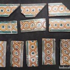 Antigüedades: 11 AZULEJOS CATALANES CENEFAS. Lote 263707115