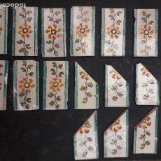 Antigüedades: 18 AZULEJOS CATALANES CENEFAS. Lote 263710990
