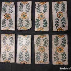 Antigüedades: 8 AZULEJOS CENEFAS CATALANAS DEL SIGLO XVIII. Lote 263713970