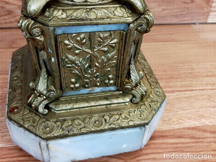 Antigüedades: CANDELABRO BRONCE - Foto 2 - 263746185