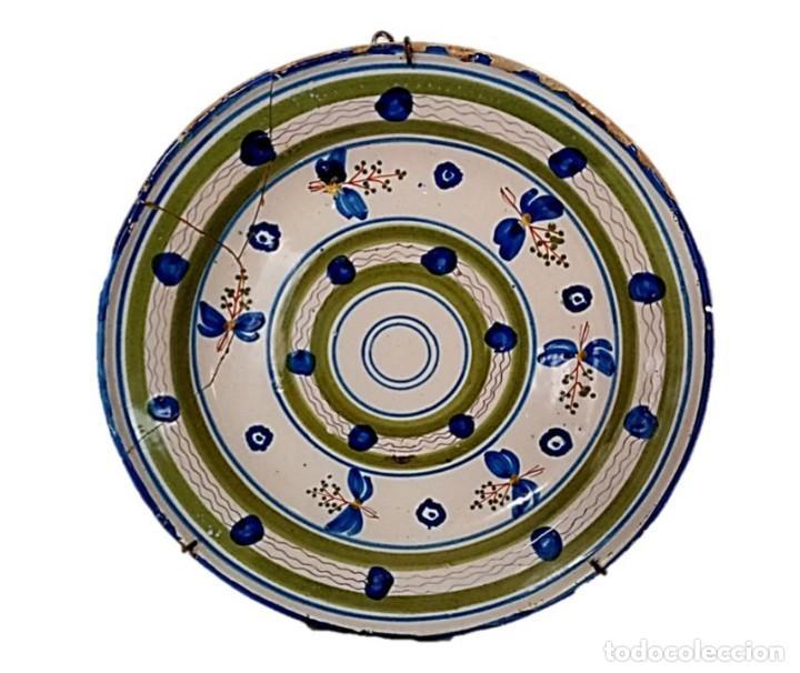 PLATO DE MANISES - ANTIGUA CERÁMICA DEL S XIX (Antigüedades - Hogar y Decoración - Platos Antiguos)