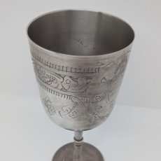 Antigüedades: CÁLIZ COPA METAL PLACADO EN PLATA DE LEY, GRABADO PROFUNDO. INGLATERRA. 1910-1930 SELLO - EPNS -. Lote 263879390