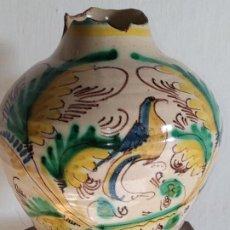 Antigüedades: CANTARO DE LA PAJARITA CERÁMICA PUENTE ARZOBISPO TOLEDO LEANDRO PAJARES 1889. Lote 263886975