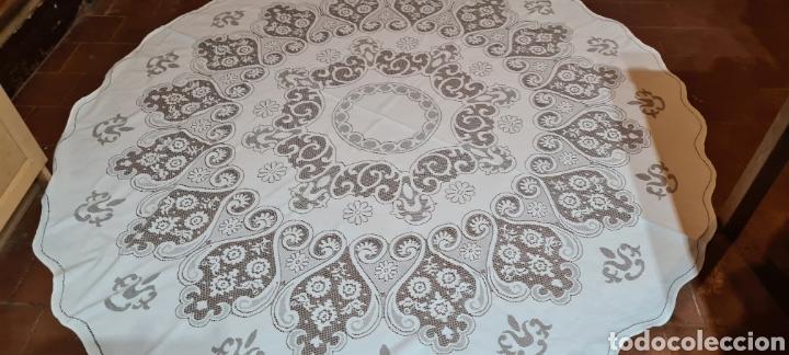 Antigüedades: Precioso Mantel de Tergal de la Marca Lepper. - Foto 2 - 263911655