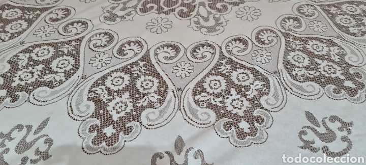 Antigüedades: Precioso Mantel de Tergal de la Marca Lepper. - Foto 4 - 263911655