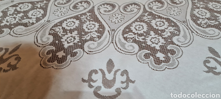Antigüedades: Precioso Mantel de Tergal de la Marca Lepper. - Foto 5 - 263911655