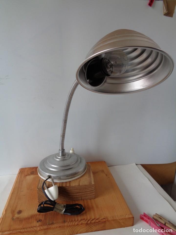 Antigüedades: ¡¡ LAMPARA: SOBREMESA, FLEXO ARTICULADA, ALUMINIO, VINTAGE. CIRCA 1950 -60. !! - Foto 6 - 263912165