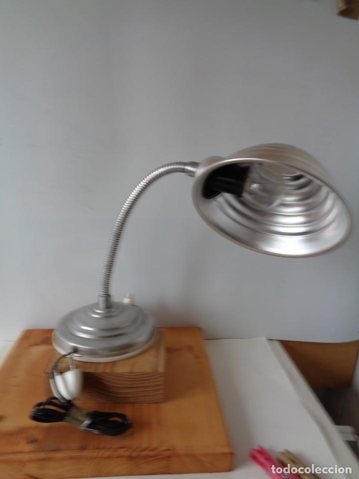 Antigüedades: ¡¡ LAMPARA: SOBREMESA, FLEXO ARTICULADA, ALUMINIO, VINTAGE. CIRCA 1950 -60. !! - Foto 7 - 263912165