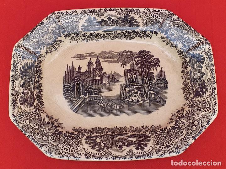 BANDEJA LA CARTUJA DE SEVILLA PICKMAN (Antigüedades - Porcelanas y Cerámicas - La Cartuja Pickman)
