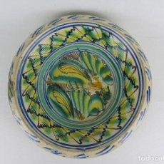 Antigüedades: LEBRILLO DE TRIANA CON PÁJARO, DEL SIGLO XIX. Lote 263954405