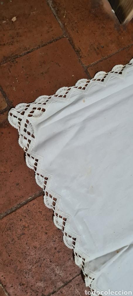 Antigüedades: Preciosa Antigua Sabana y funda almohada. - Foto 3 - 263959600