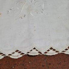Antigüedades: PRECIOSA ANTIGUA SABANA Y FUNDA ALMOHADA.. Lote 263959600