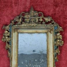 Antigüedades: ESPEJO DE MADERA TALLADA. CRISTAL ORIGINAL. FRANCIA. SIGLO XVIII.. Lote 263966855