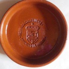 Antigüedades: PLATO BARRO CONMEMORATIVO FESTA DA CADELUCHA NIGRÁN PONTEVEDRA. Lote 264043600