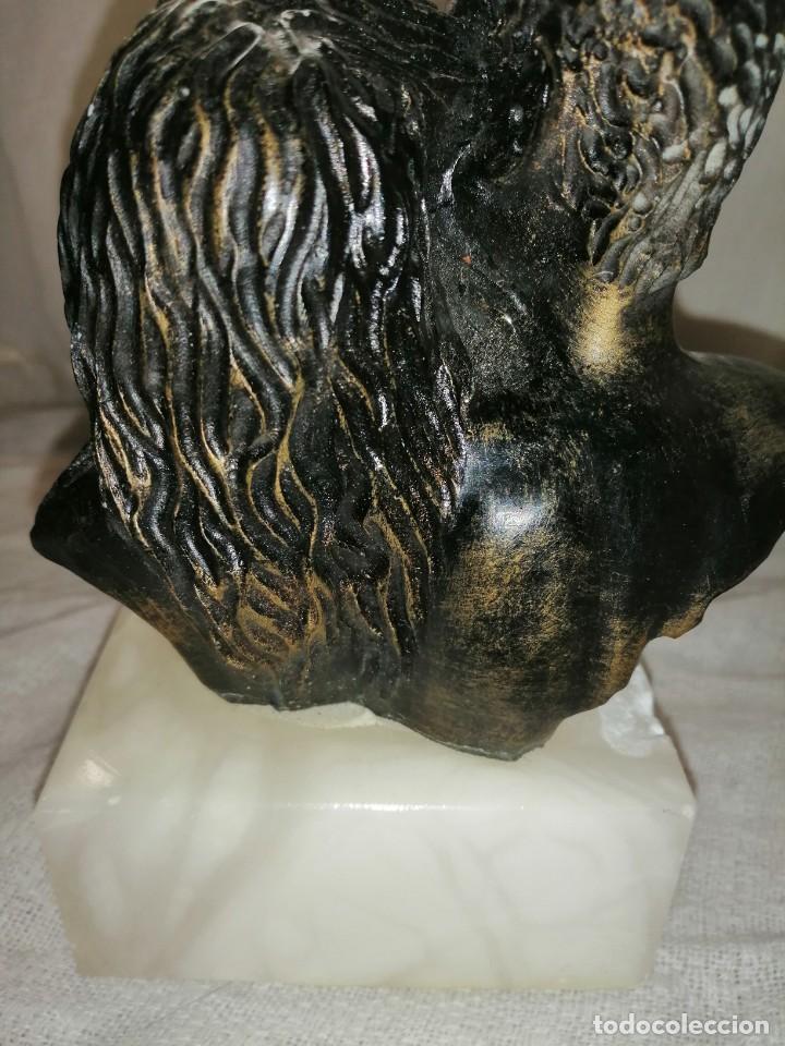 Antigüedades: Figura pareja con pie de mármol - Foto 4 - 264045020