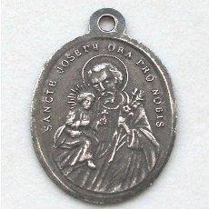 Antigüedades: ANTIGUA MEDALLA RELIGIOSA. SAN JOSÉ Y MARÍA AUXILIO DE LOS CRISTIANOS (SIGLO XIX). Lote 264067560