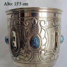 Antigüedades: COPA O CALIZ TURQUESAS EN CABUJON. Lote 264071530
